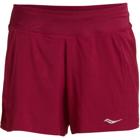 "saucony Tranquil 5"" Shorts Women Beet Red"